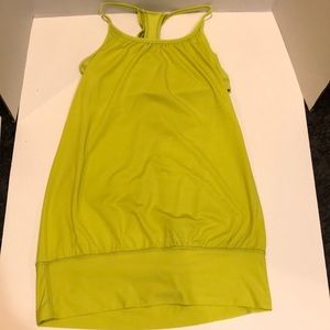 Lululemon Yellow / Green No Limits Tank Size 4